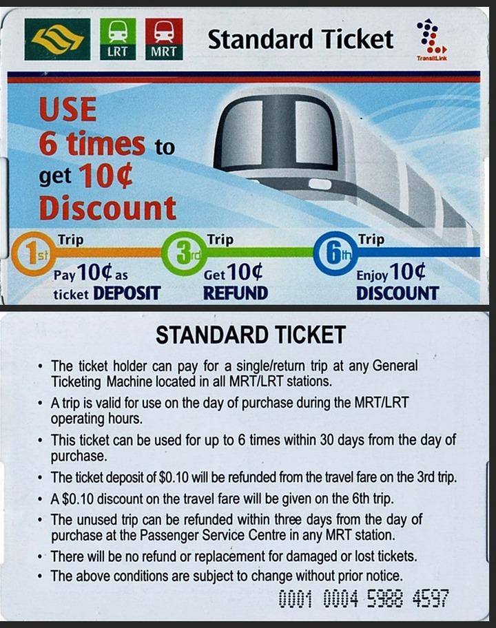 Metro ticket to Petronas Towers - Kuala Lumpur