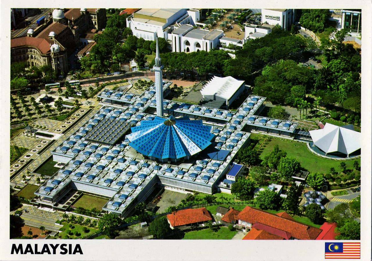 National Mosque - KL - postcard