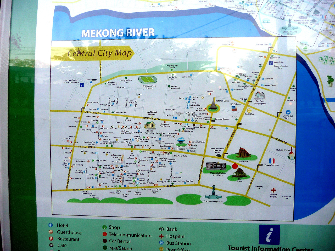 Map of Vientiane Lao PDR