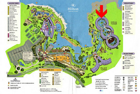 Map of Hilton Waikoloa Beach - Hawaii
