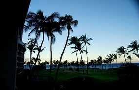 View from Hilton Waikoloa Beach  - Hawaii