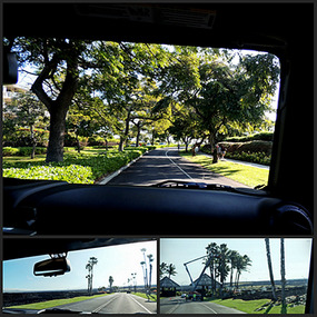 Drive out of Waikoloa Beach Resort  - Hawaii