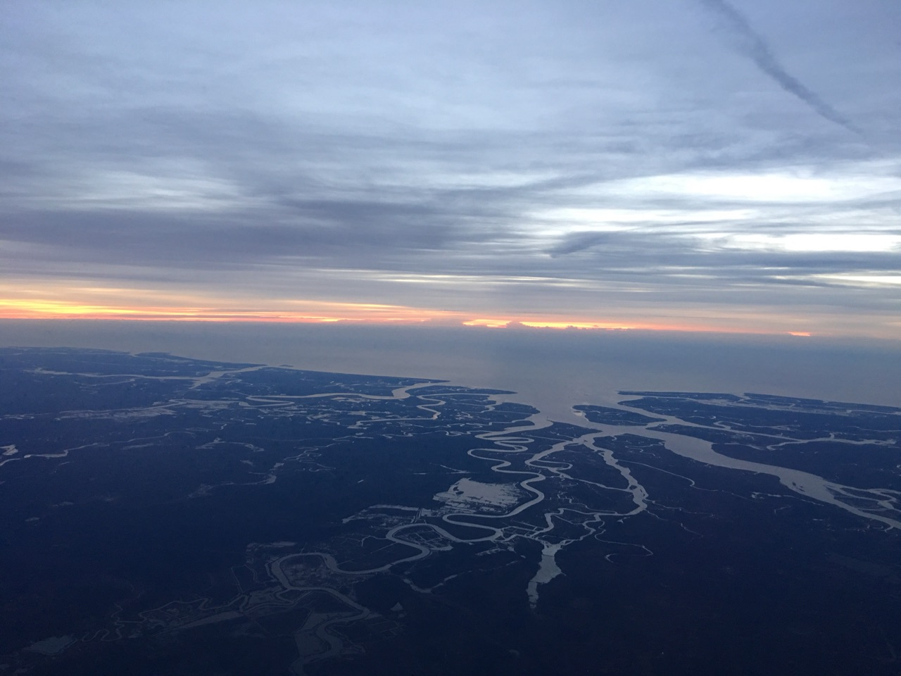 Low country from above