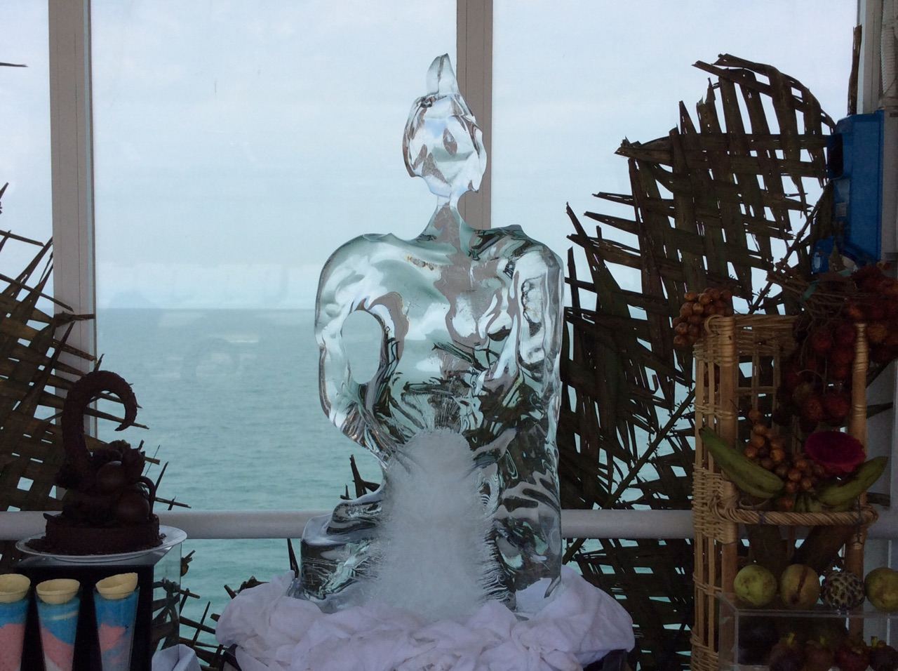 Ice sculpture at lunch