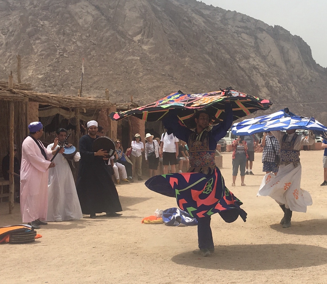 Bedouin dancers and musicians