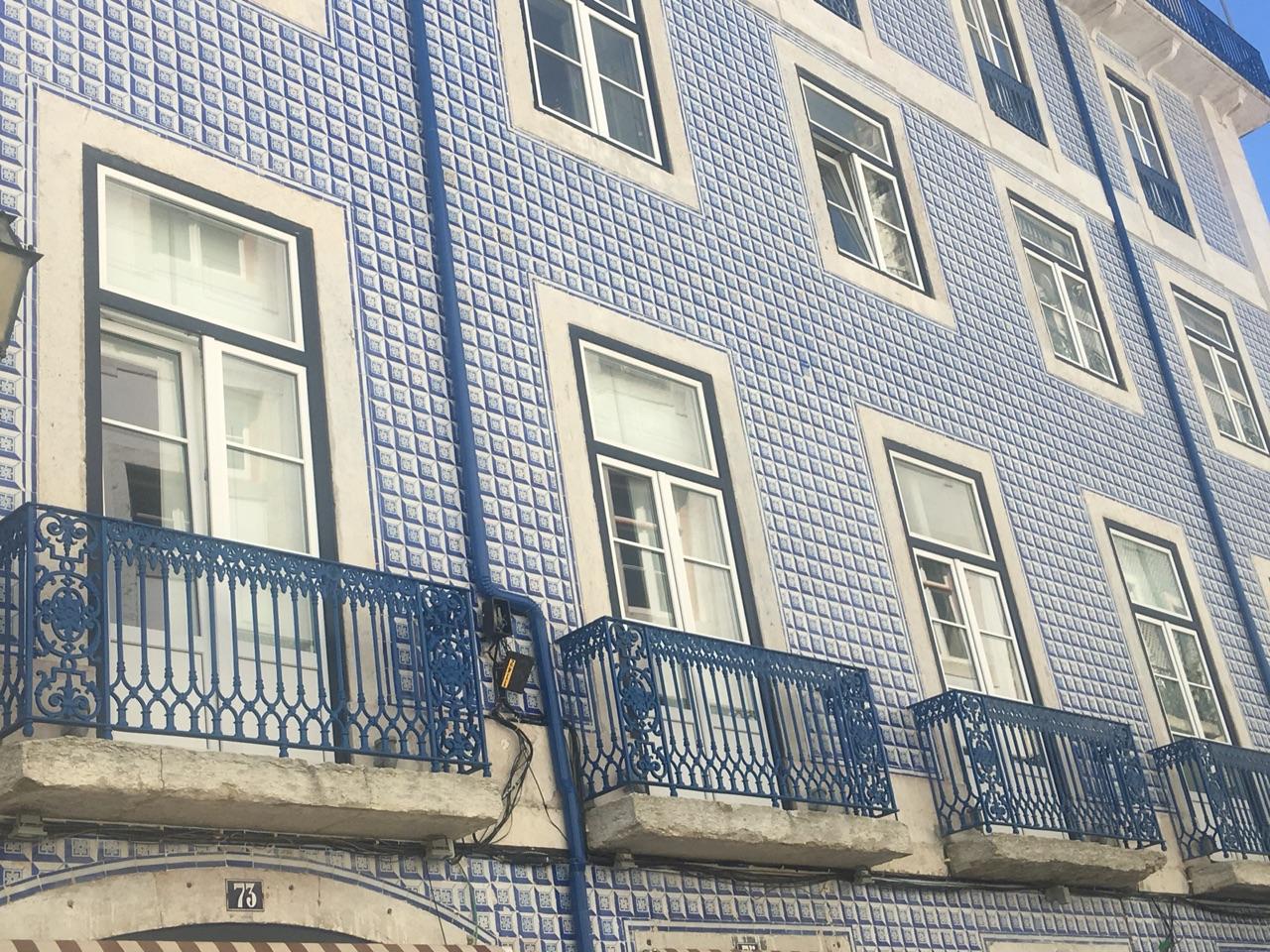 Tiled facade, Lisbon