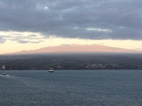 Big Island at sunrise