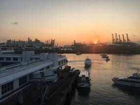 Docking at sunrise