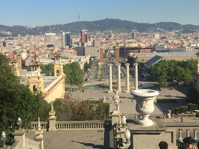 View of Barcelona from 1929 World .Expo site