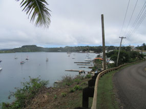 Looking over harbour