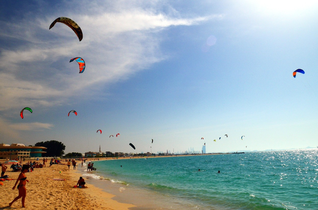 The kite beach