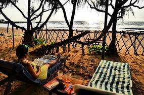 Induruwa beach chairs
