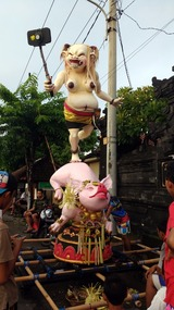 The day before Nyepi, the Korean tourist devil