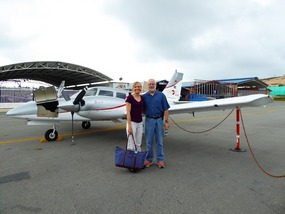 Our plane a Piper 34