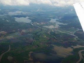Swamp like area around Rio Magdalena