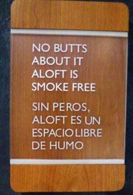 Sign in the Aloft Hotel Bogotá
