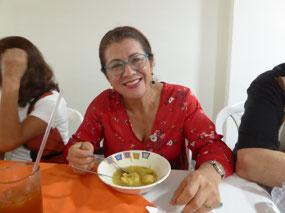 Amparo likes the soup
