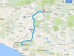 Route Apaneca to Copan
