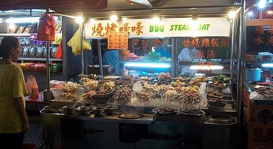 Jalan Alor food street Kuala Lumpur