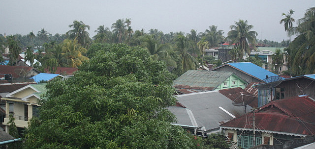 View from hotel window Sittwe