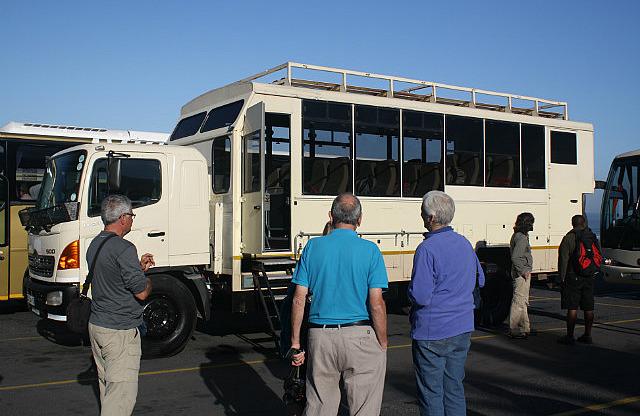 We examine the bus