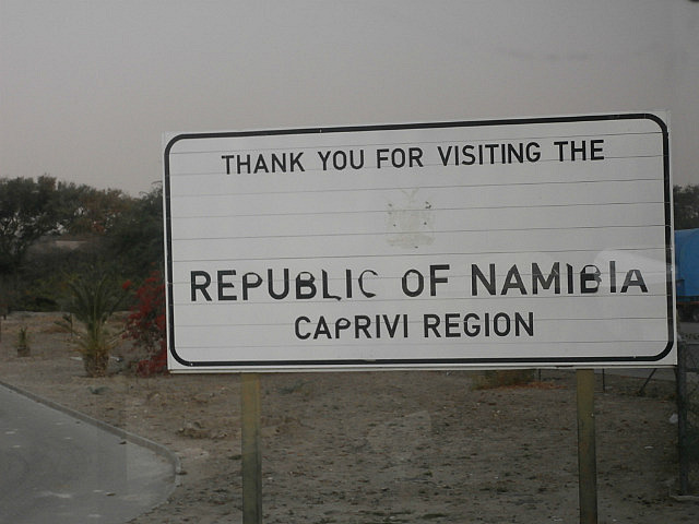 Leaving Namibia once again