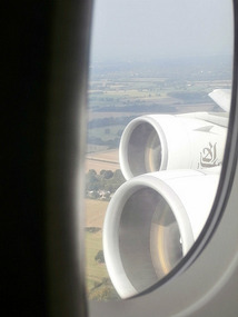 The A380's massive engines