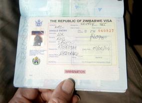 Finally, a Zimbabwean visa