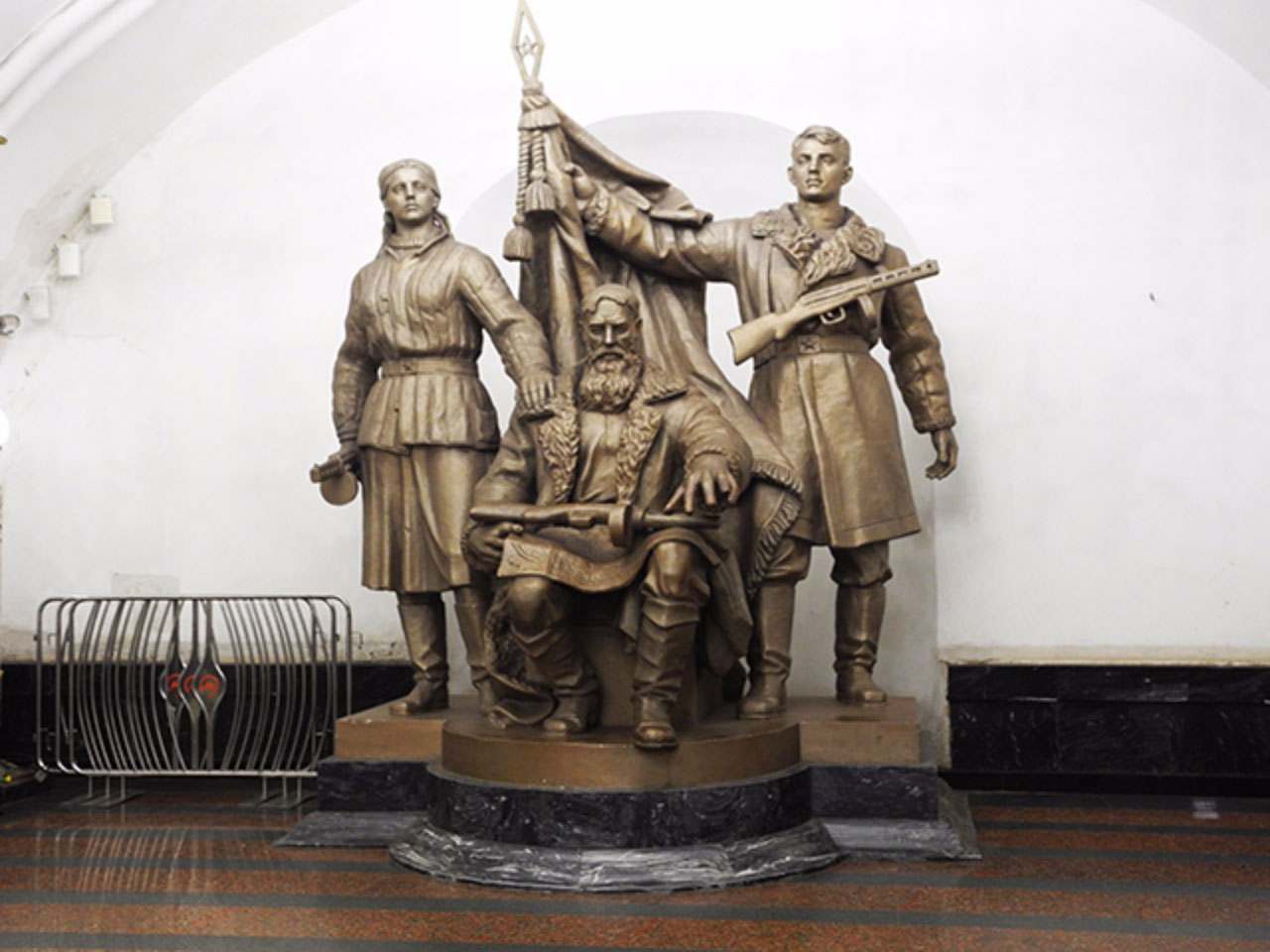 Partisans at the Belorusskaya station