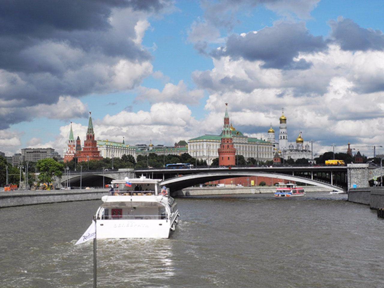 Arriving at the Kremlin