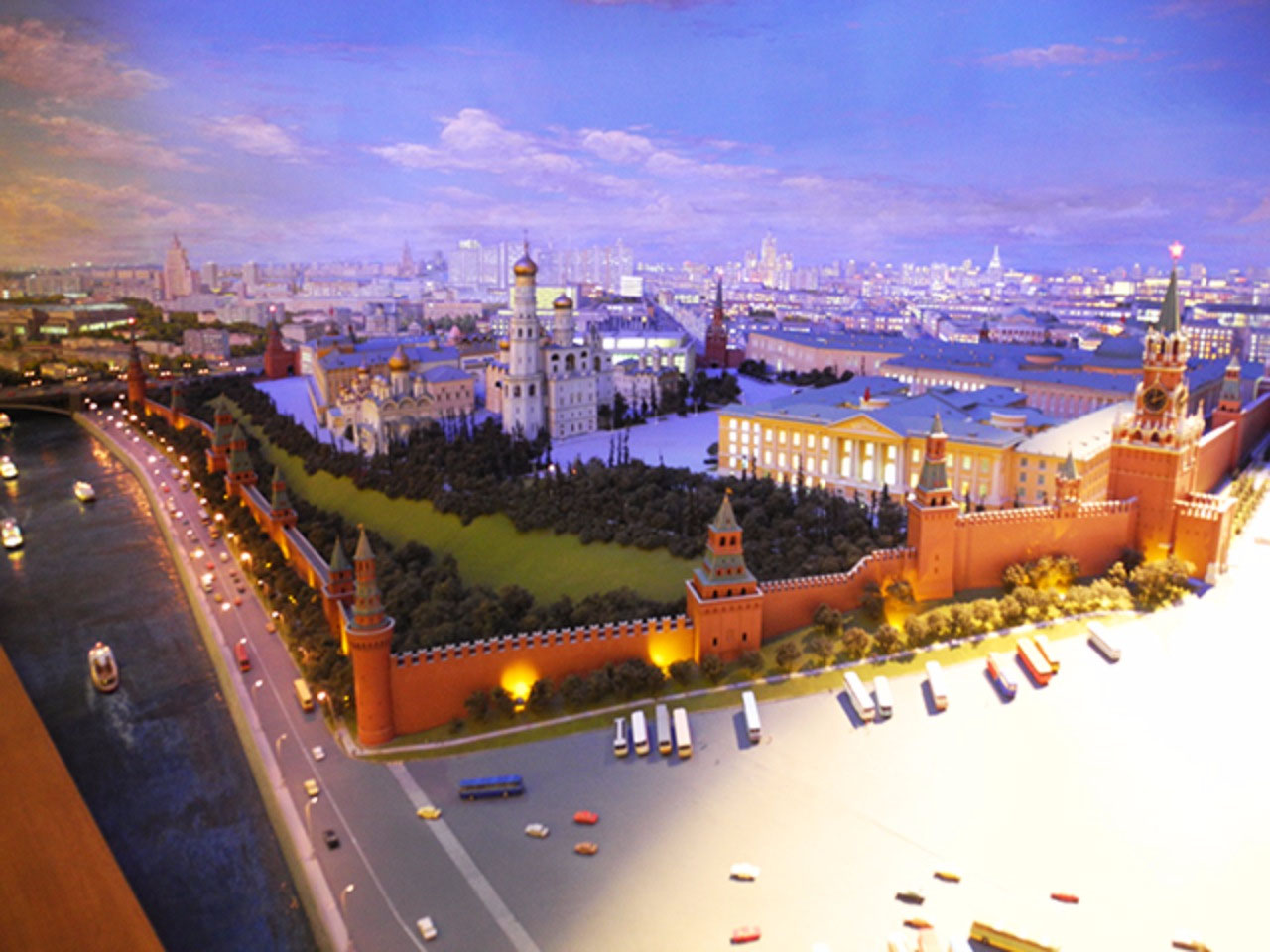 Scale model of the Moscow Kremlin
