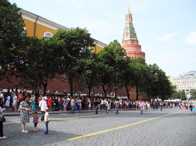 The line to see Lenin