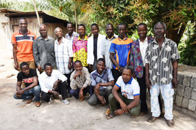 The participants at the leadership training