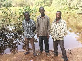 Joël, Serge and Michael, newly baptized
