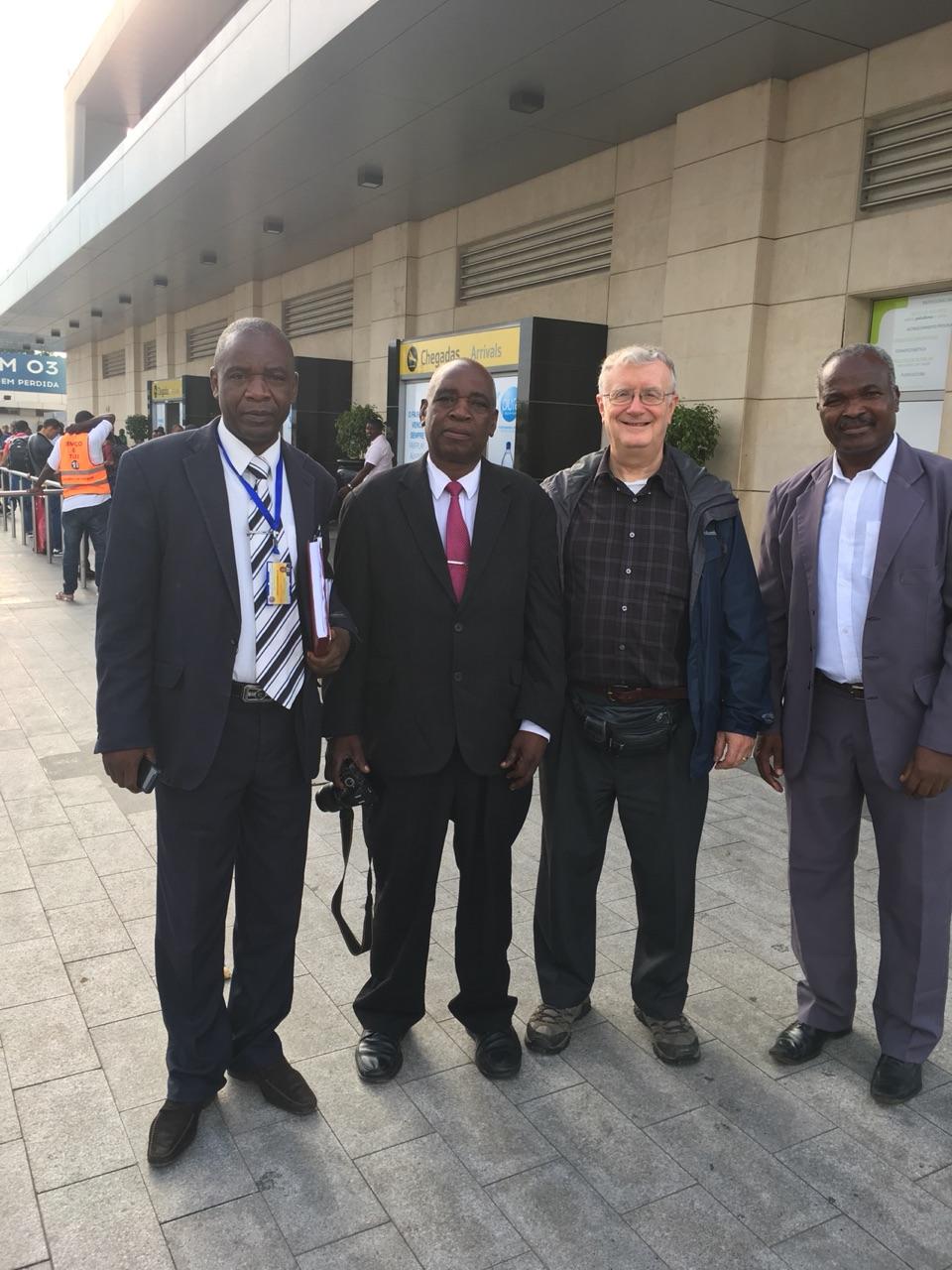 Brethren welcoming at Luanda airport