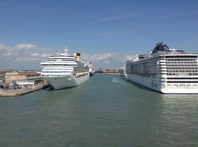4 of the 12 cruise ships in port