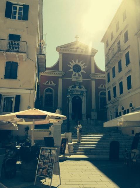 One of many churches in Corfu