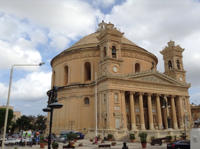 Church in Mosta that was bombe