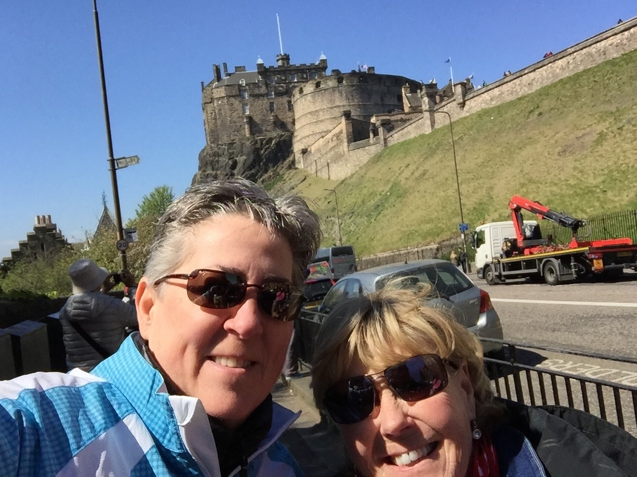 Edinburgh Castle in the background
