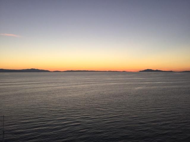 Beautiful sunset at sea