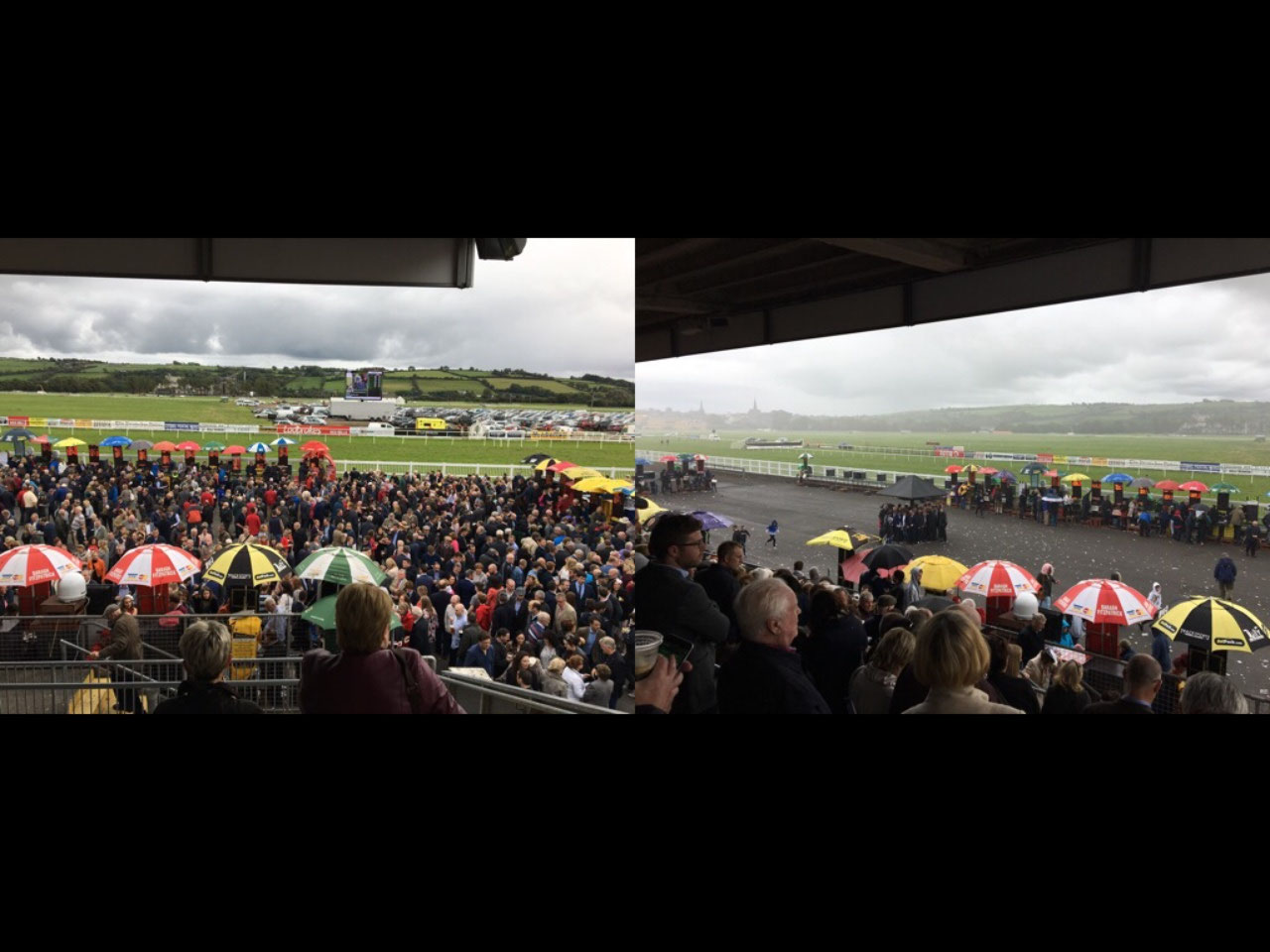 This is what happens when it rains at the races!