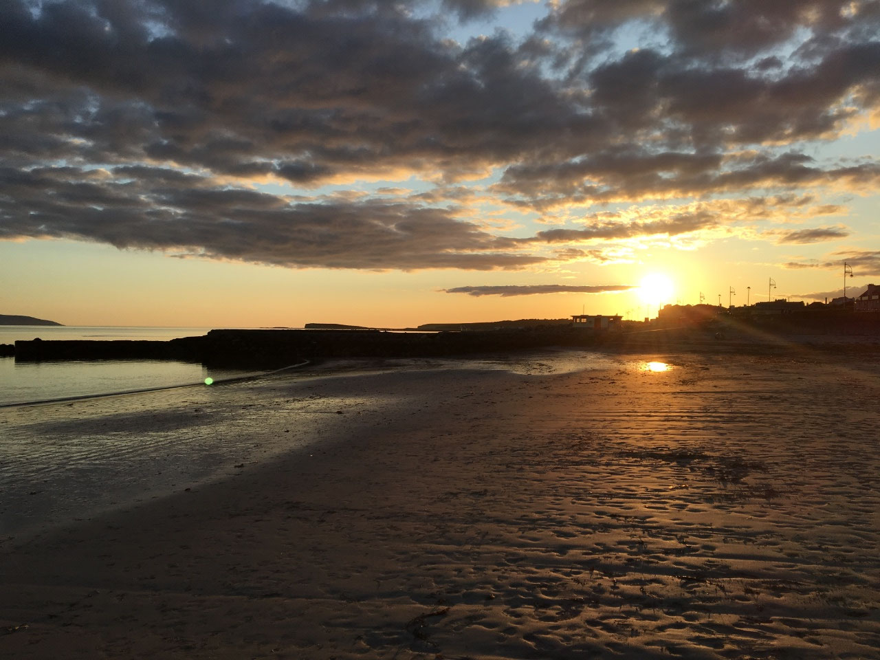 Sunset at Salthill Beach