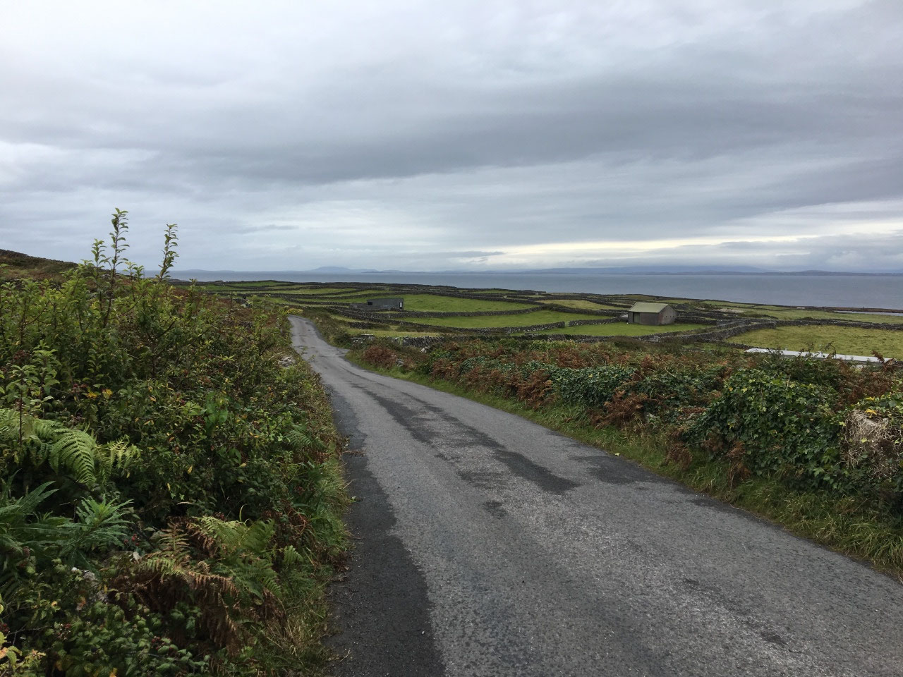 On the road in Inis Mor