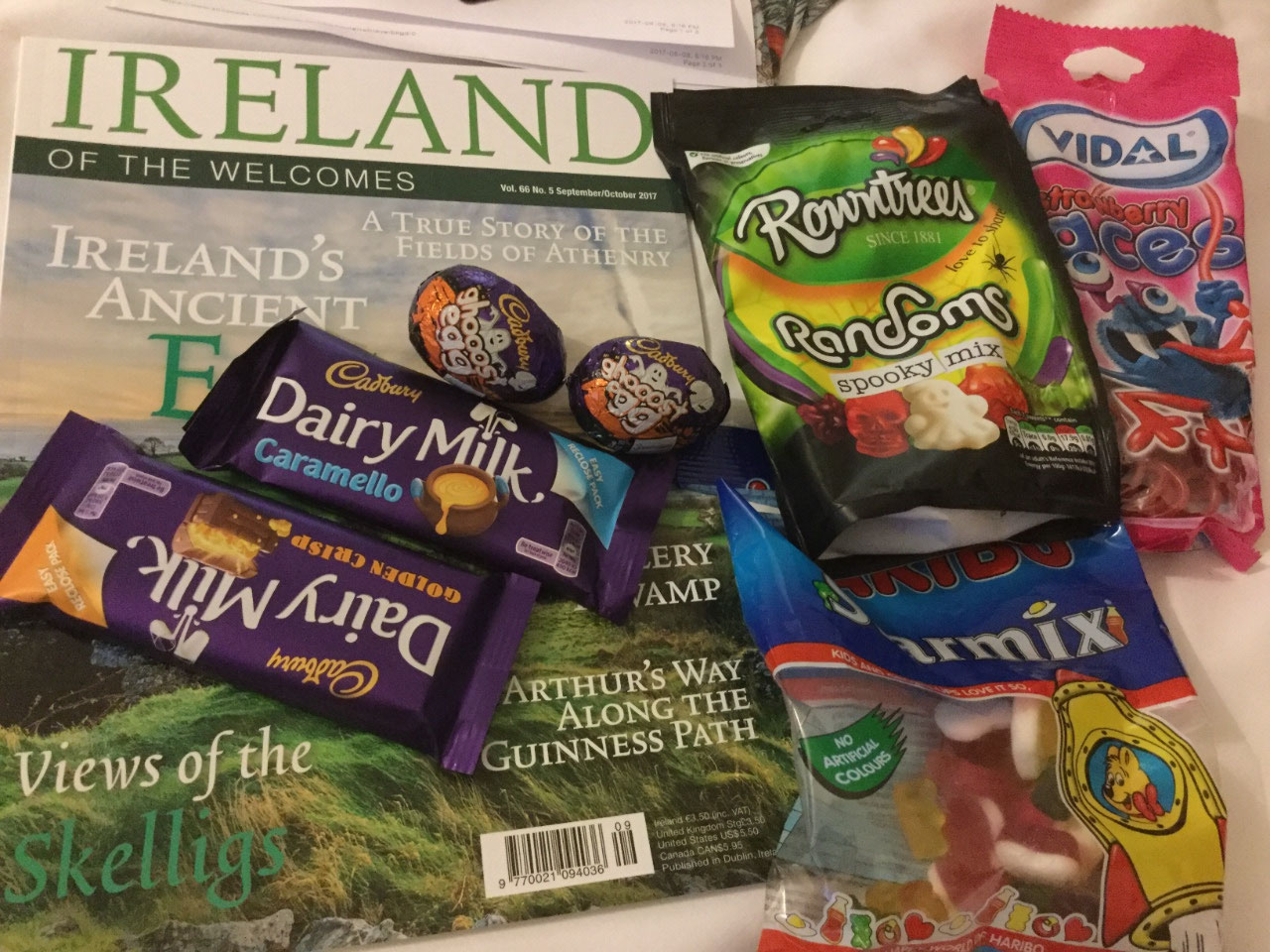 Reading material and treats from the airport shops