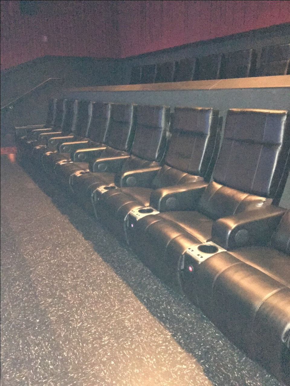 Nice seats in this theatre