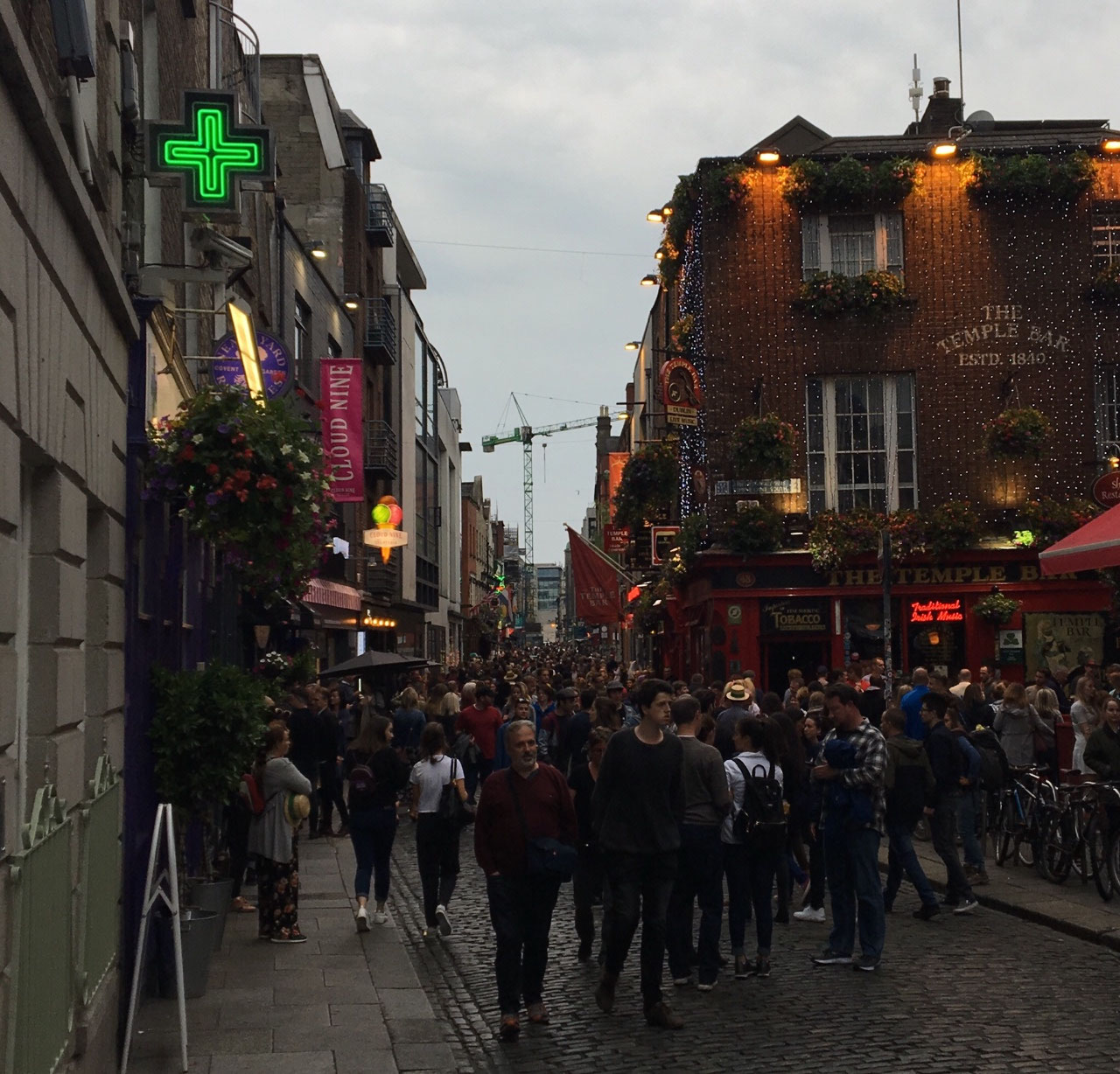A packed house in Temple Bar