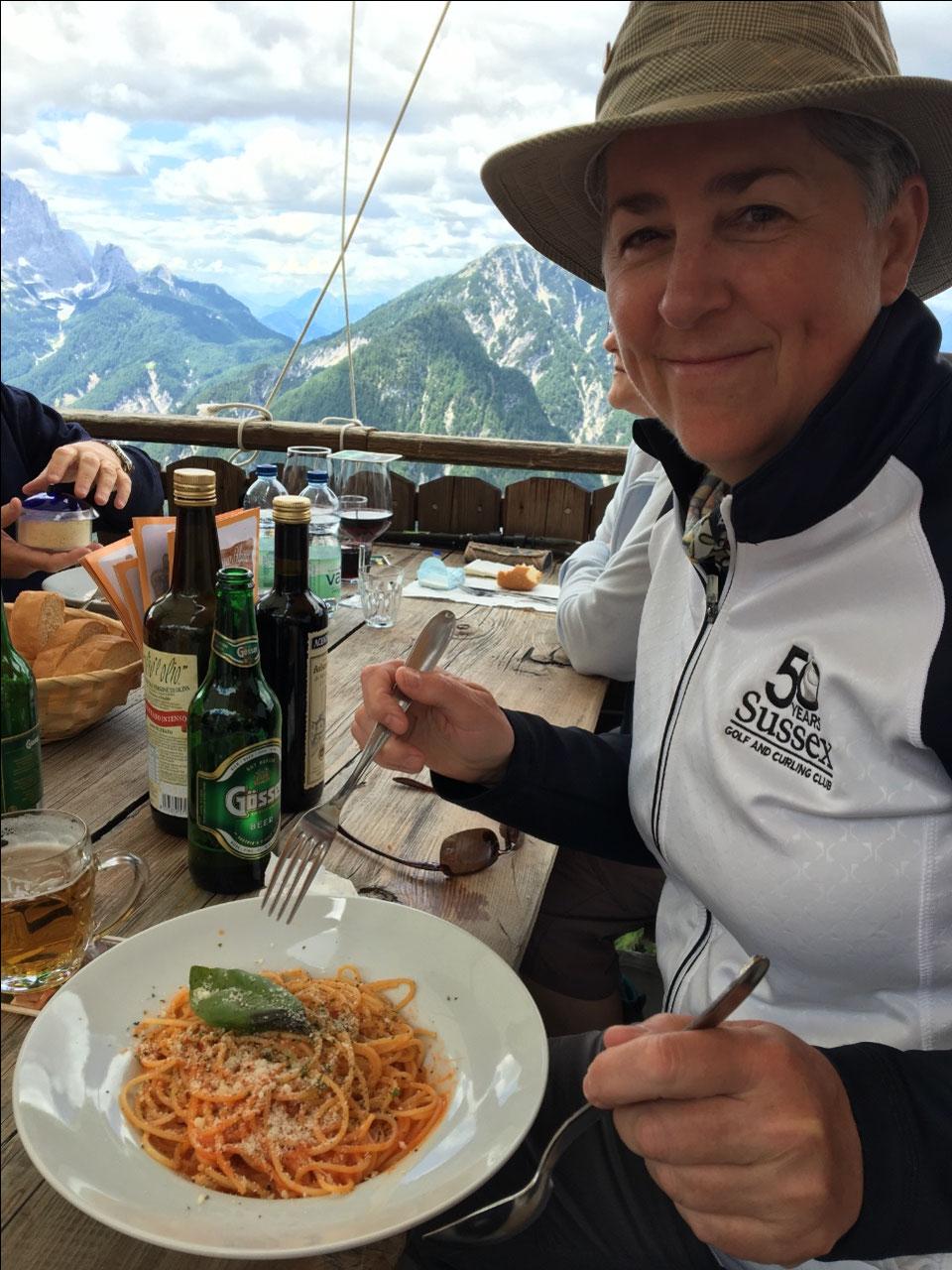 It's Italy!  Spaghetti of course!  Mangia!