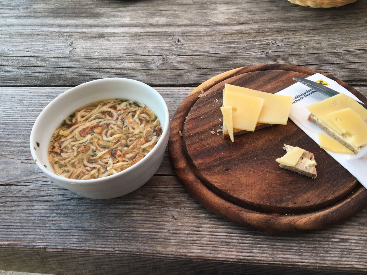 Soup and cheese