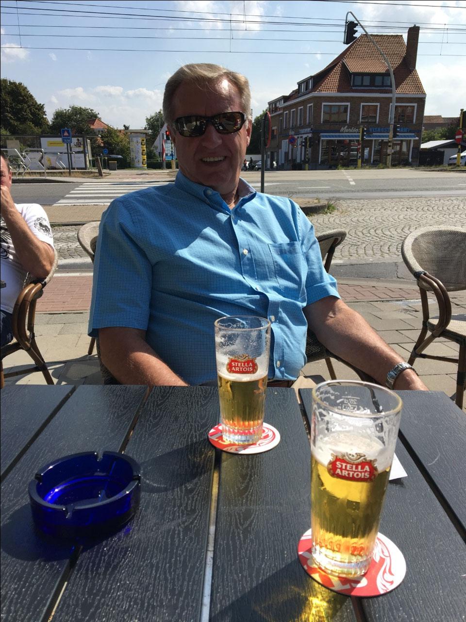 STELLA!!!!!!  In Zeebrugge before reboarding!