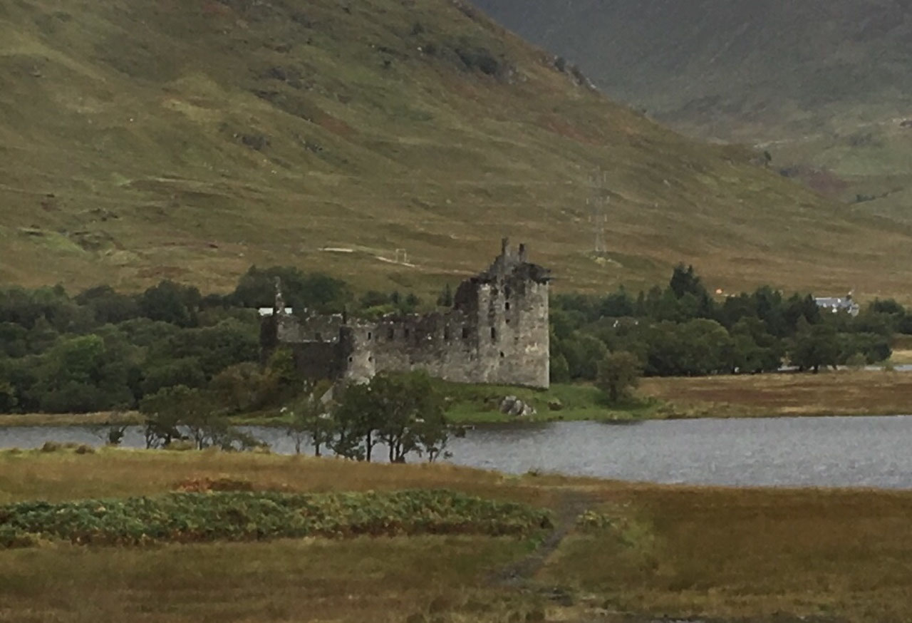 The ruins of Kilchurn Castle on Loch Awe